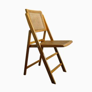Mid-Century Folding Cane Chair, 1960s