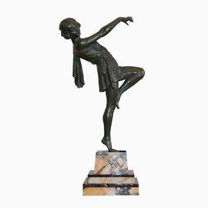 Escultura vintage grande de bailarina de Emile Carlier