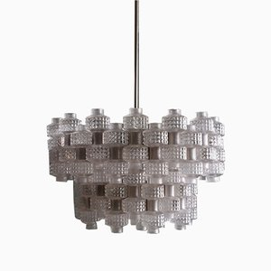 Large Festival Chandelier by Carl Fagerlund for Orrefors, 1960s
