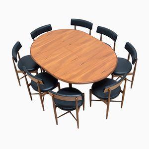 Mid-Century Teak Dining Table Set by Ib Kofod-Larsen for G-Plan, 1960s