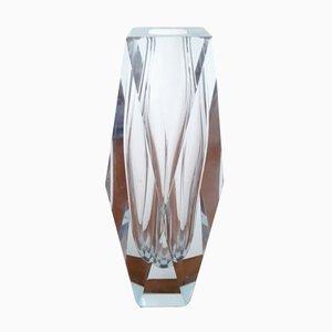 Vase en Verre de Murano Clair Taillé