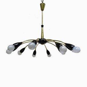 Sputnik Ceiling Lamp with 10 Lights, 1950s