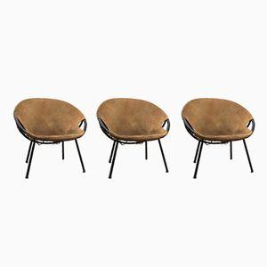 Butacas Circle de Lusch Erzeugnis para Lusch & Co, años 60. Juego de 3