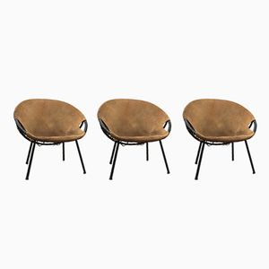Circle Armchairs by Lusch Erzeugnis for Lusch & Co, 1960s, Set of 3