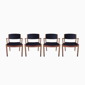 Vintage J62 Dining Chairs by Poul M. Volther for FDB, Set of 4