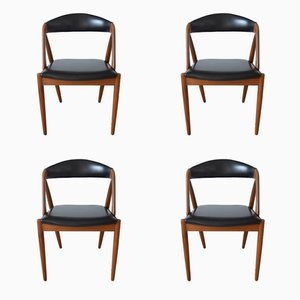 Mid-Century Teak Model 31 Dining Chairs by Kai Kristiansen for Schou Andersen, 1960s, Set of 4
