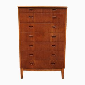 Danish Teak Tall Boy Dresser, 1960s