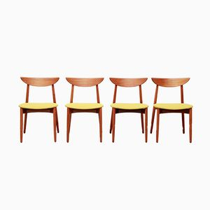 Danish Dining Room Chairs by Harry Ostergaard for Randers Møbelfabrik, 1960s, Set of 4