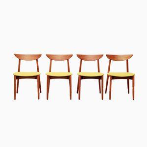 Sedie da pranzo di Harry Ostergaard per Randers Møbelfabrik, anni '60, set di 4