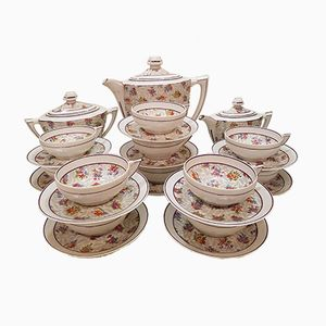 Servicio de café francés de porcelana de Chapus et Fils, años 30