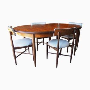 Tavolo e 4 sedie da pranzo serie Range vintage di G-Plan