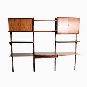 Vintage Rosewood Veneer Wall System by Poul Cadovius for Cado