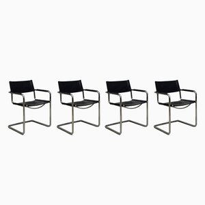 MG5 Tubular Steel Chairs from Matteo Grassi, 1970s, Set of 4