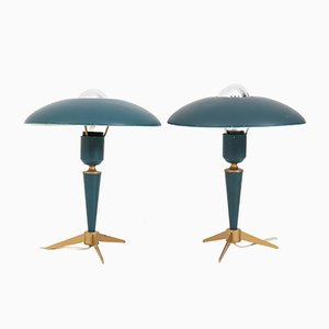 Tripod Desk Lamps by Louis Kalff for Philips, 1950s, Set of 2