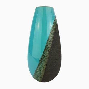 Vase Vintage Turquoise par Aldo Londi pour Bitossi, 1956