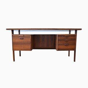FM 60 Rosewood Executive Desk by Kai Kristiansen for Feldballes Møbelfabrik, 1960s
