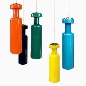 Hängende Glaslampen von Stilnovo, 1960er, 2er Set