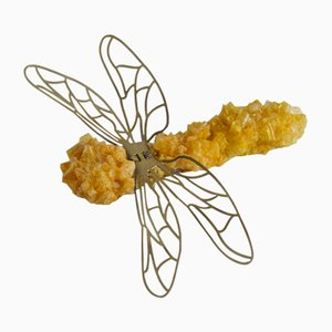 Crystal Dragonfly Brooch by Isaac Monté