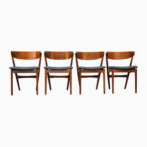 Chaises de Salle à Manger Vintage en Teck par Helge Sibast pour Sibast, Set de 4