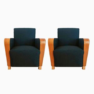 Vintage Art Deco Club Chairs, Set of 2