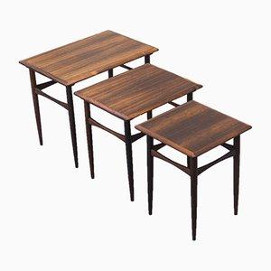 Vintage Rosewood Nesting Tables by Arne Hovmand Olsen
