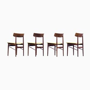 Mid-Century Rosewood Dining Chairs, 1950s, Set of 4
