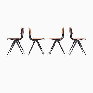Vintage Industrial Dining Chairs, Set of 4