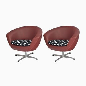 Vintage Swivel Chairs from UP Závody, Set of 2