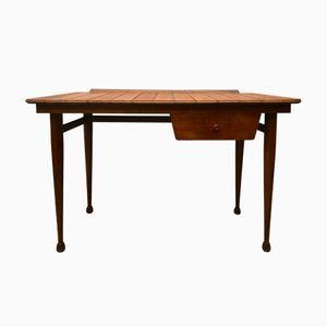 Vintage Wooden Desk with Drawer