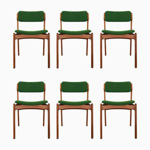 Danish Teak Chairs by Erik Buch for O.D.Mobler, 1960s, Set of 6