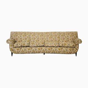 Sofá de cuatro plazas curvado, años 50