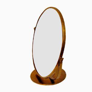 Specchio da tavolo vintage regolabile in ottone