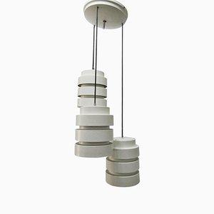 Lámpara de araña italiana con tres lámparas, años 70