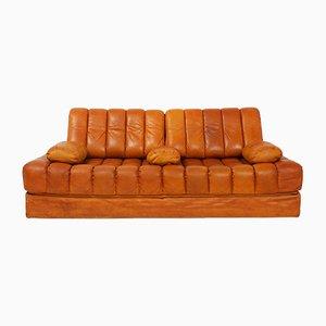 Sofá cama DS85 de cuero de de Sede, años 70