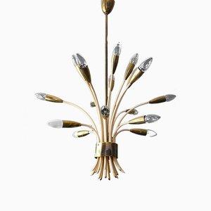 Lámpara de araña Mid-Century de 18 brazos de Vereinigte Werkstätten