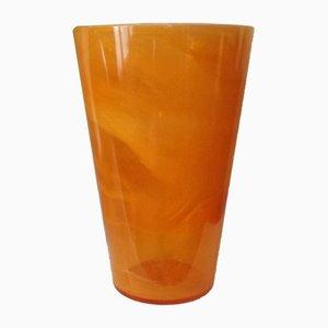 Vaso arancione di Kosta Boda, anni '80