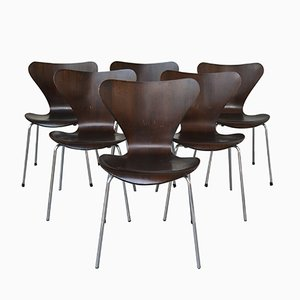 3107 Dining Chairs by Arne Jacobsen for Fritz Hansen, 1970s