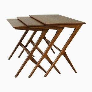 Mid-Century Danish Nesting Tables by Bengt Ruda, 1950s