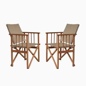 Vintage Folding Chairs, 1960s, Set of 2