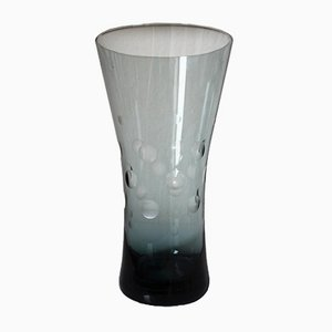 Vase mit geschliffener Punkte Verzierung von Wilhelm Wagenfeld für WMF, 1950er