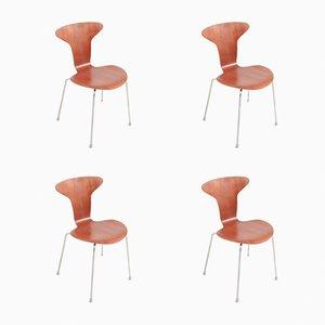 Mid-Century Modell 3105 Mosquito Stühle von Arne Jacobsen für Fritz Hansen, 4er Set
