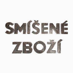 Letrero de tienda checo vintage, años 60