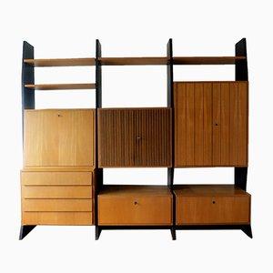 Modulares Idee Möbel Program Wandregal mit Sekretär von Erich Stratmann für Oldenburger Möbelwerkstätte, 1954