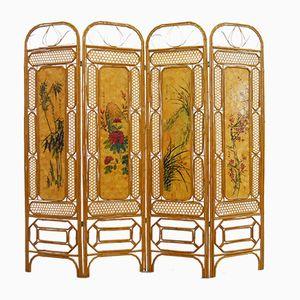 Chinesischer Vintage Bambus Wandschirm