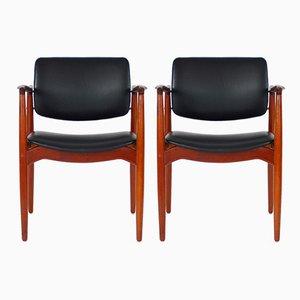 Teak Captain's Chairs by Erik Buch for Ørum Møbelfarik, 1960s, Set of 2