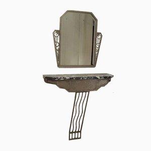 Mesa consola y espejo Art Déco, años 20