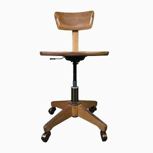 Vintage Bauhaus Swivel Workshop Chair from Stoll