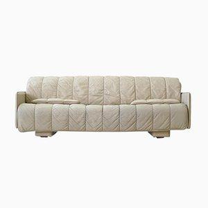 Sofá de tres plazas vintage de cuero de DE Sede
