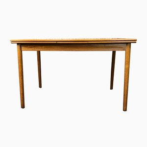 Vintage Danish Extendable Teak Dining Table, 1960s