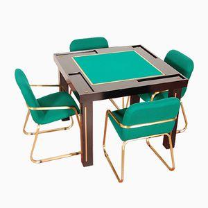 Mesa de casino con 4 sillas, años 80